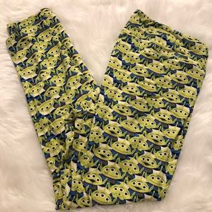 LulaRoe Toy Story Alien Tall & Curvy Leggings